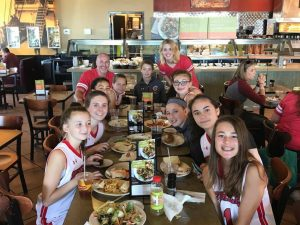 Austin girls select basketball dinner