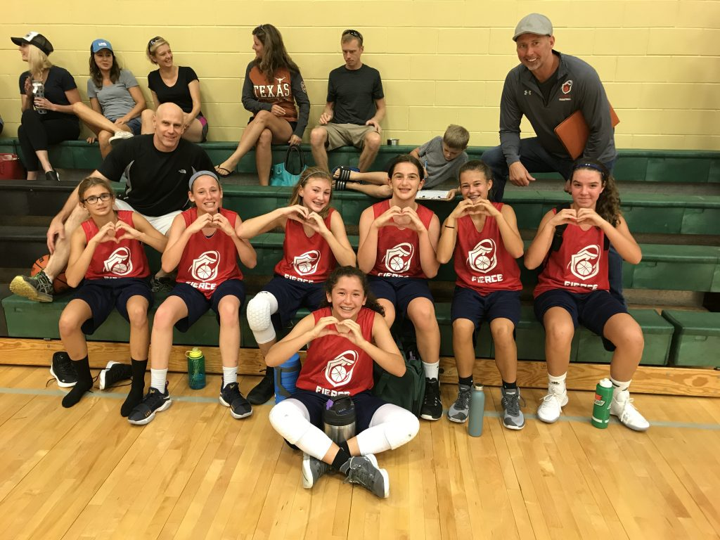 Girls select basketball in Austin